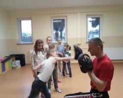 Adam Wróbel prowadzi treningi w Bolszewie